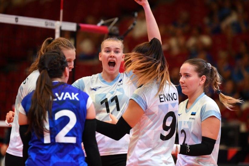 """Eesti võrkpallinaised lõpetasid EMi vinge lahinguga: """"Tõestasime, et me ikka oskame mängida."""""""