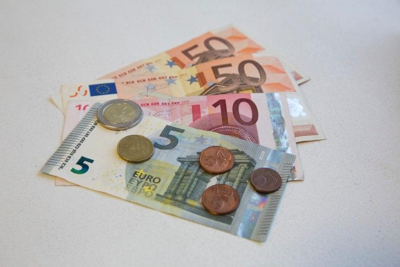 Keskmine palk tõusis teises kvartalis 1419 euroni