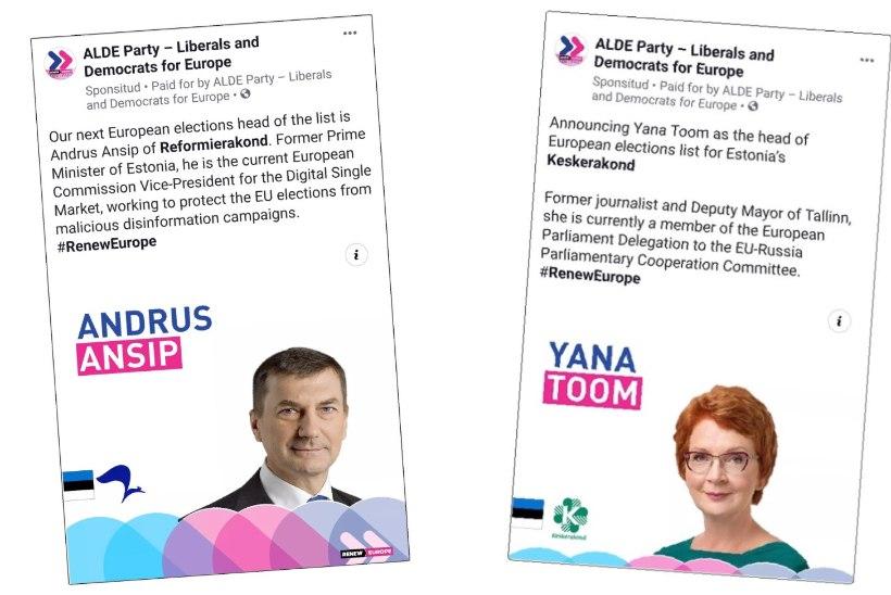 Ebavõrdne võistlus: Brüssel tegi eurovalimistel Toomile ja Ansipile keelatud reklaami