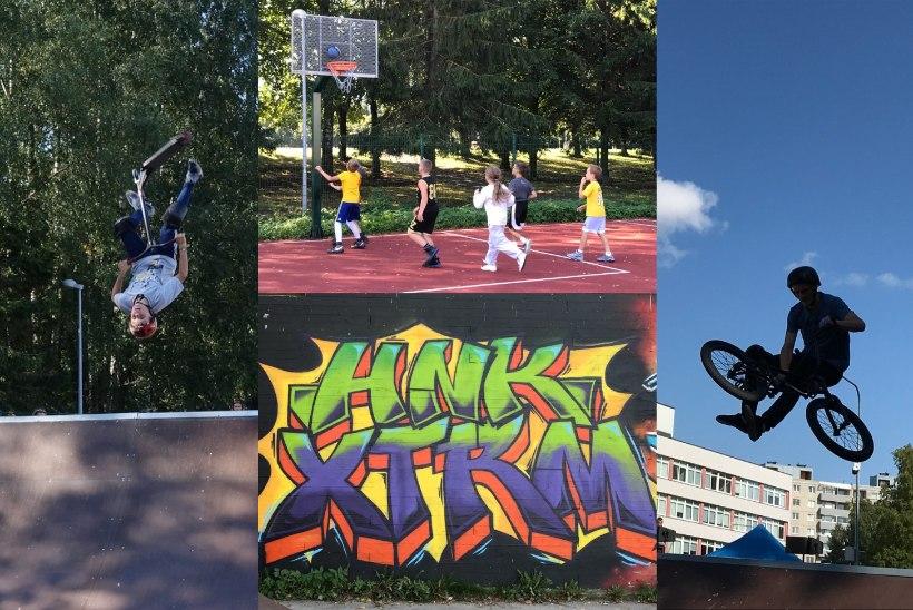 GALERII | Haabersti noored lõpetasid suve ekstreemsete trikkide, korvpalli ja grafitiga