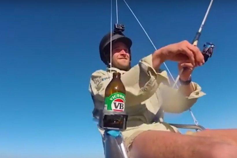 VIDEO | Lõbu rohkem kui rubla eest: Austraalia kalamees sooritas maailma esimese droonipüügi