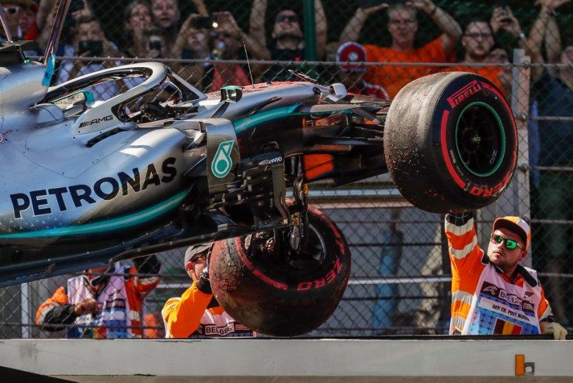 VIDEO | Vabatreeningul seina sõitnud Hamilton pidi kvalifikatsioonis tunnistama Ferraride paremust