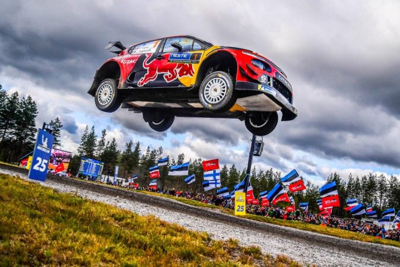 VIDEO | Jõhker õhulend: Ogier narritas Soome rallil gravitatsiooni!
