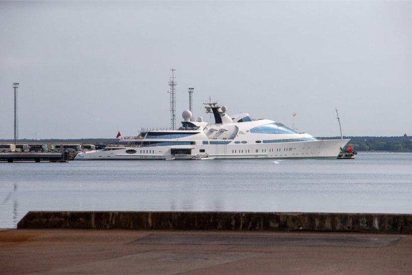 FOTOD | Tallinna sadamas peatub Abu Dhabi valitseja uhke jahtlaev