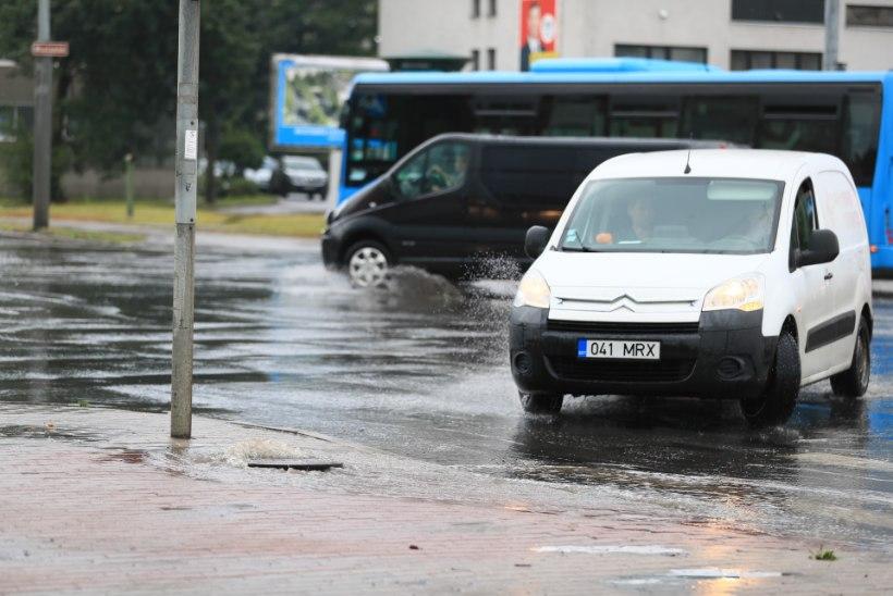 VIDEOD JA FOTOD | Tugev paduvihm tekitas Tallinnas üleujutusi