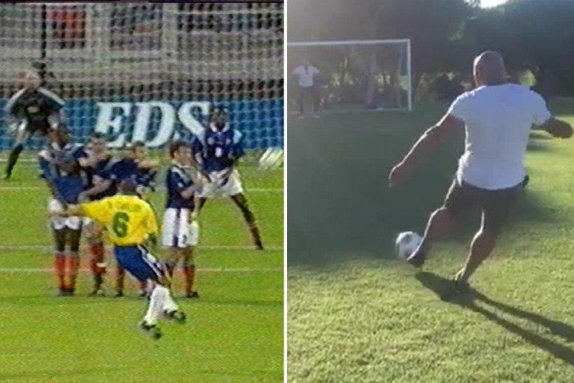 VIDEO | Vaata, kuidas Roberto Carlos oma kuulsat väravat taaslavastada üritab