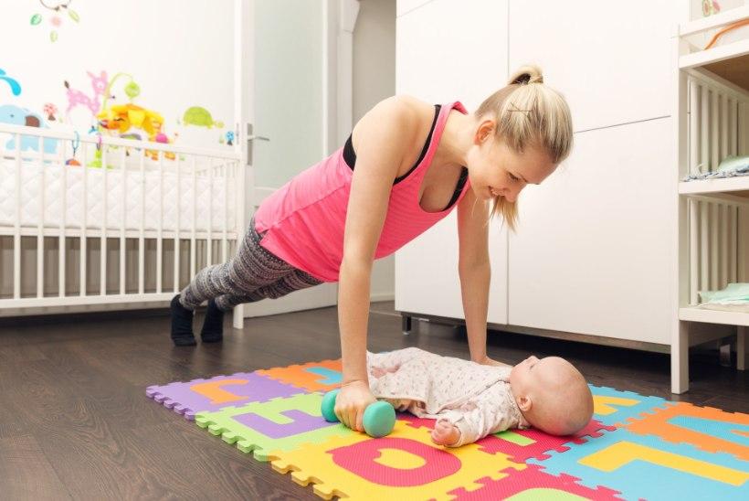 VIDEO | Kuidas kodus koos beebiga treenida?