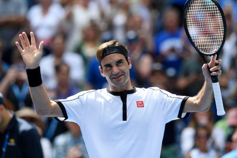 Vanameister on endiselt tipus! Federer jõudis mängleva kergusega veerandfinaali