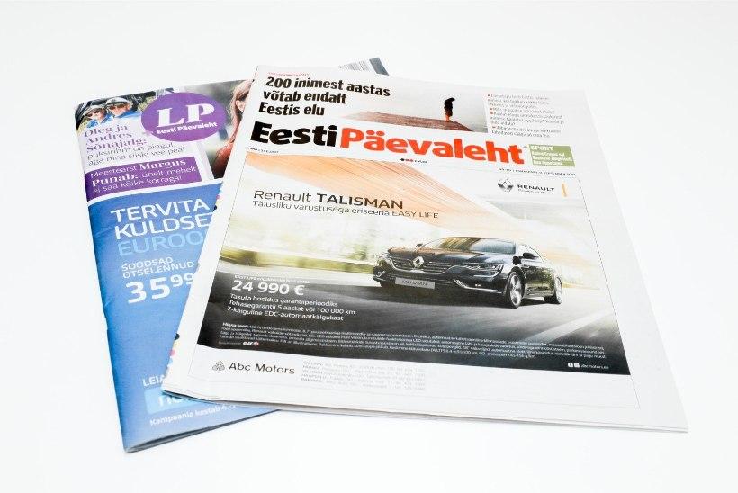 Eesti Päevaleht jääbki ilmuma viiel päeval nädalas