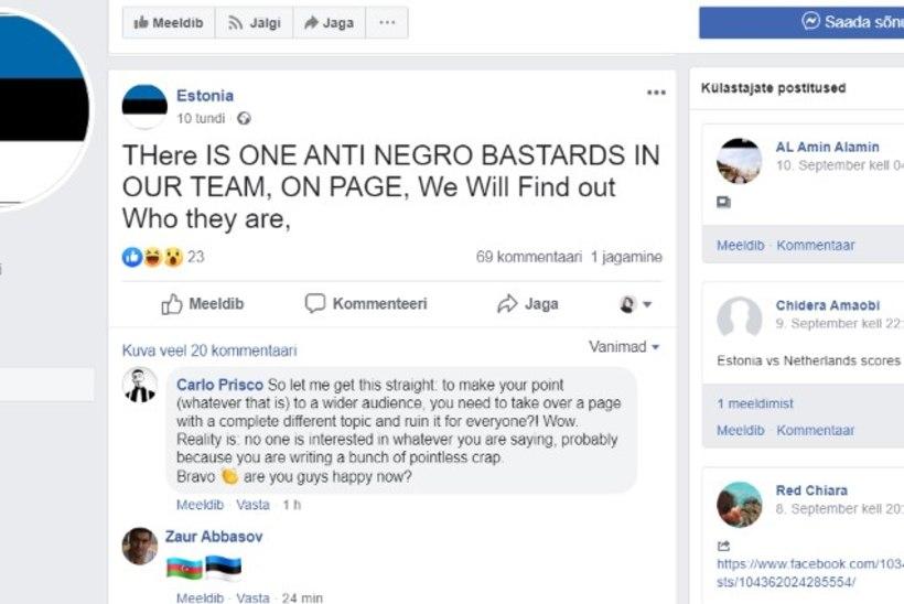 VEEBIÄMBER: Eestit tutvustaval tuhandete jälgijatega Facebooki lehel jagatakse rassistlikku materjali