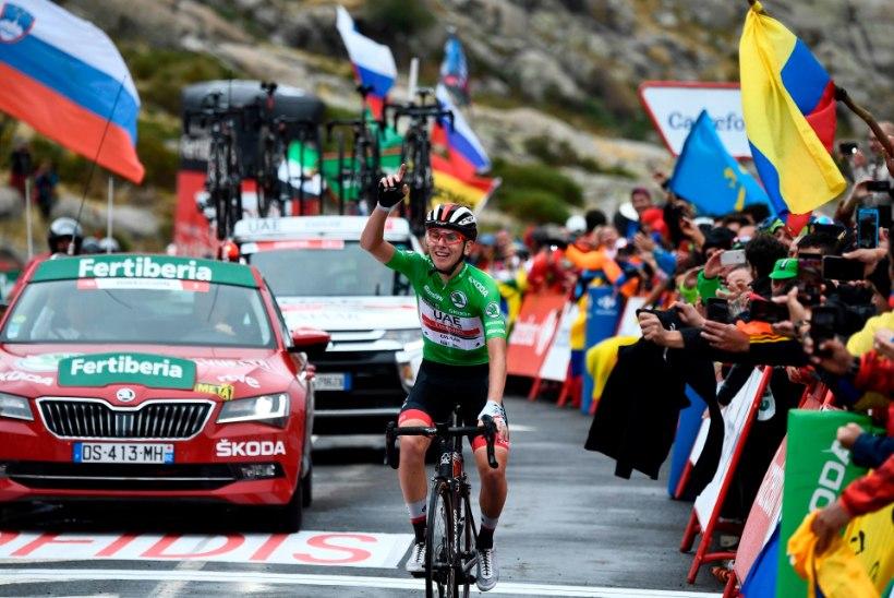 Hispaania velotuuri eelviimasel etapil triumfeeris kõigest 20aastane sloveen, üldvõit läheb kaasmaalasele