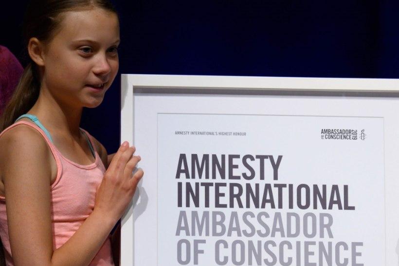 KÕRGE TUNNUSTUS: Rootsi kliimaaktivist Greta Thunberg sai kätte järjekordse auhinna