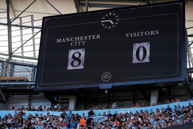 ULME! Manchester City purustas väravavõrke ning püstitas järjekordse rekordi