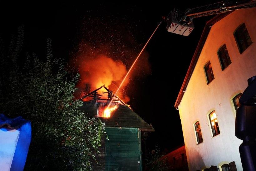Pärnu kesklinna põlengu süütamises kahtlustatav võeti vahi alla