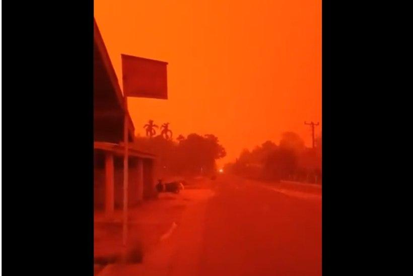 PÕRGULIK VAATEPILT! Indoneesia taevas värvus tulipunaseks