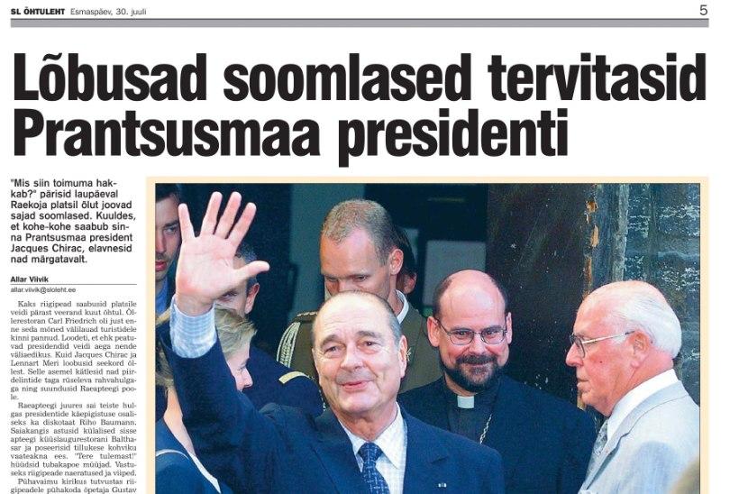 Suri Prantsusmaa endine president Jacques Chirac