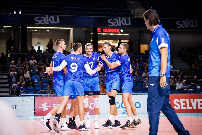 Eesti võrkpallikoondis jäi EMi peaproovis nimekale vastasele alla