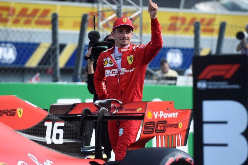 Itaalia GP: hiilgavas hoos noor Ferrari piloot jättis taas Hamiltoni ja Mercedesed seljataha