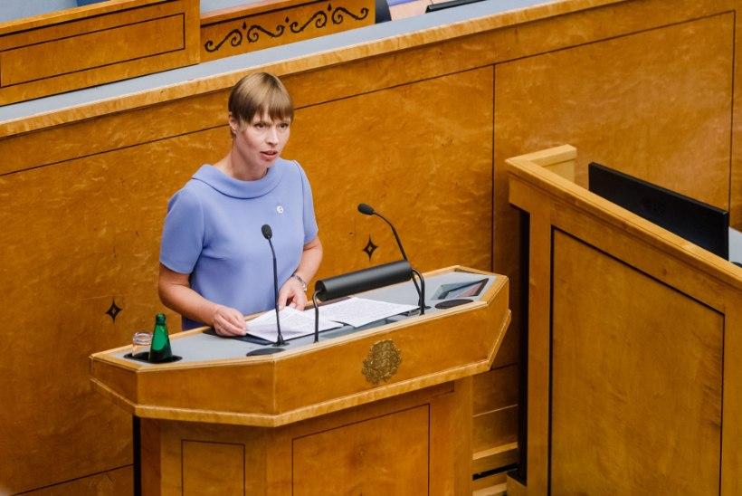 President riigikogule: teie otsustate, kas Eesti armastab või pelgab vabadust