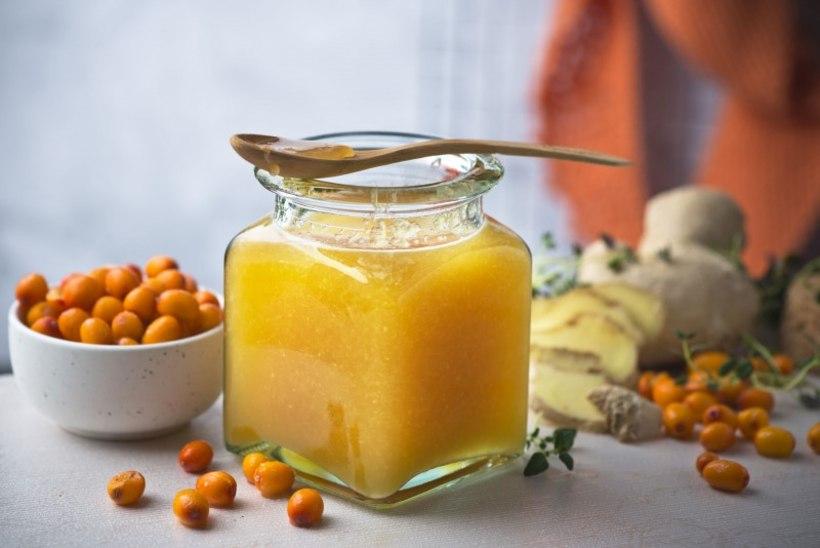 Vitamiinipüree mee, ingveri ja astelpajuga