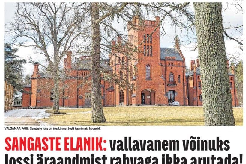 ÕL ARHIIV | SANGASTE ELANIK: vallavanem võinuks lossi äraandmist rahvaga ikka arutada!