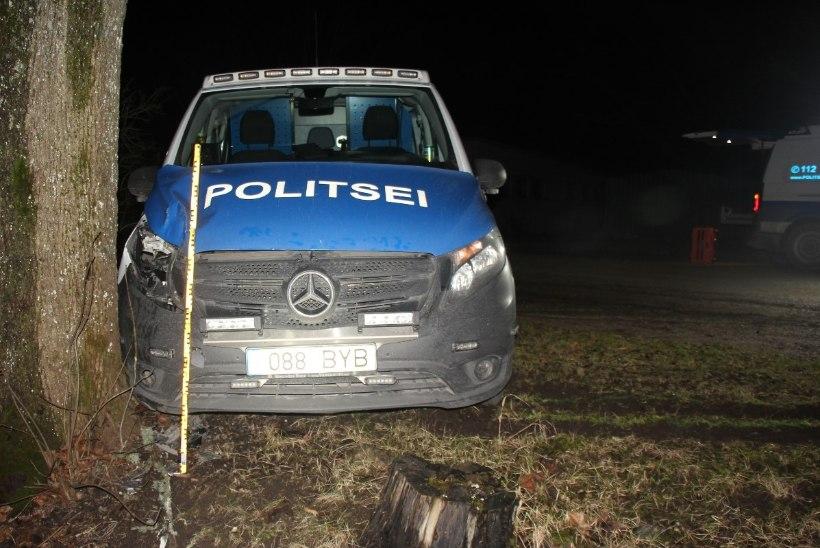 ÖINE JÄLITAMINE: politseipatrull sattus avariisse, püüdes peatada teismelist roolijoodikut