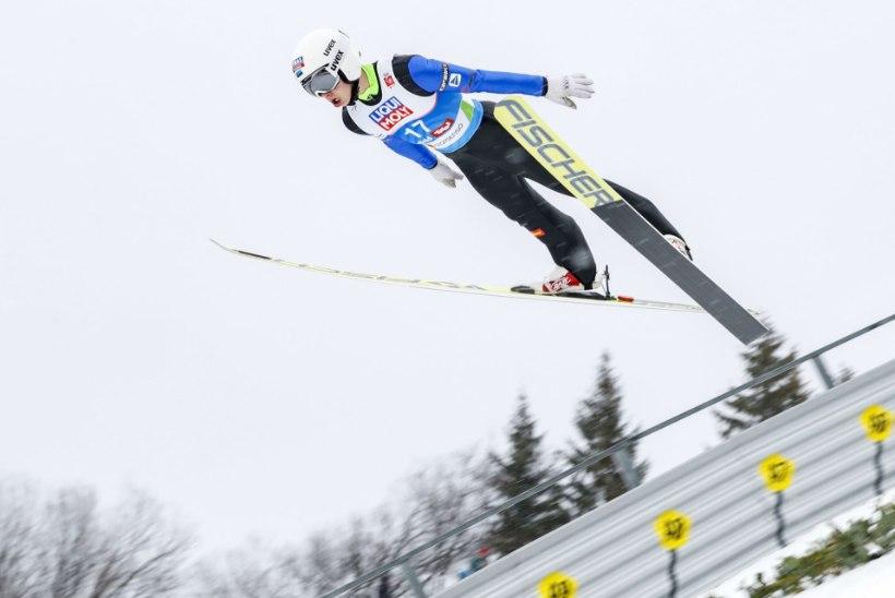 Päevad pole vennad: Eesti suusahüppajad lendasid MK-etapil liiga vähe