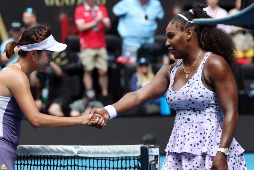 ÜLLATUS! Hiinlanna lülitas Austraalia lahtistel Serena Williamsi konkurentsist