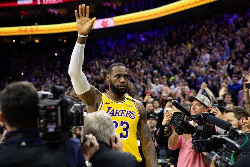 VIDEO | LeBron James möödus kõigi aegade edetabelis Kobe Bryantist, kuid meeskonda võidule aidata ei suutnud