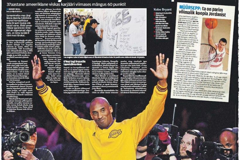 Martin Müürsepp Kobe Bryantist: parim võimalik koopia Michael Jordanist