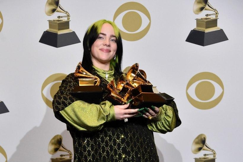 Leinalooriga Grammy-õhtul tegi ajalugu 18aastane Billie Eilish