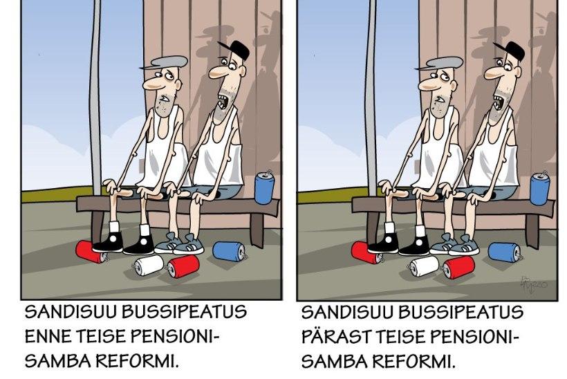 Juhtkiri   Usaldushääletus ei usalda pensionisammast