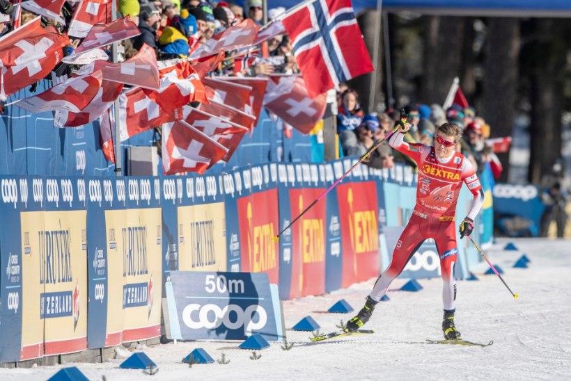 Tour de Ski | Kläbo tegi viimaks venelastele ära, tuuri esikolmik püsib tihedalt koos