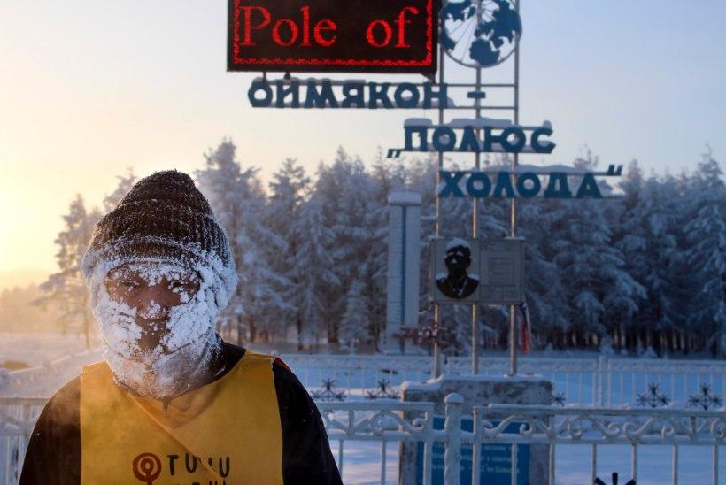 28 HULLJULGET INIMEST! Venemaal joosti maraton 50kraadises külmas