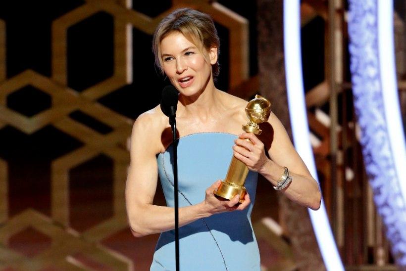 Renée Zellweger võitis üle 16 aasta jälle Kuldgloobuse