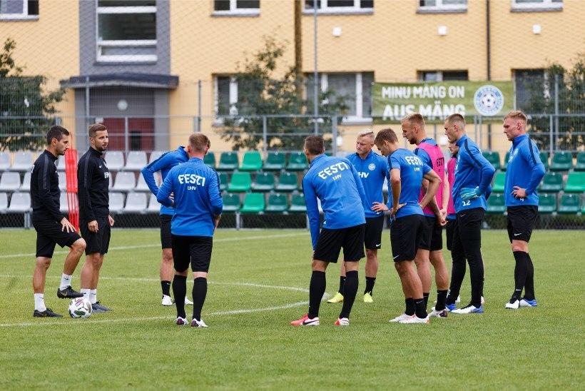 Eesti jalgpallikoondis tegi Armeeniaga mängu eel koosseisus vangerdused