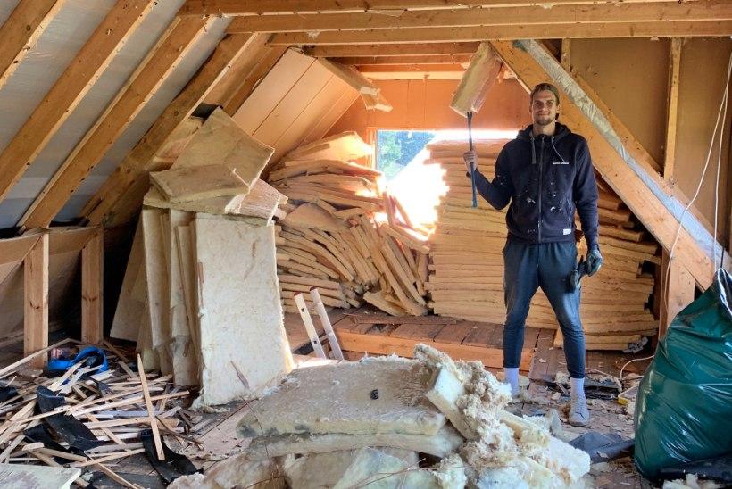 """Naabrist parema"" paar renoveerib suvilat: alles jääb vaid vundament, karkass ja katus"