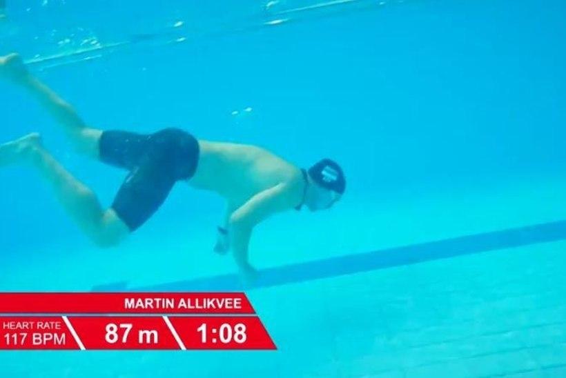 TV3 VIDEO | Eesti tippujuja kaotas rekordite saate salvestusel vee all teadvuse