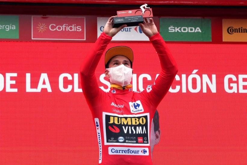 Kangert andis Giro kokkuvõttes ära mõned kohad, Laas ja Räim lõpetasid Vuelta etapi viimaste seas