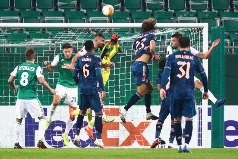 Euroopa liiga: mitmes mängus kõmmutati kaheksa väravat, Arsenal ronis kaotusseisust välja Viini klubi vastu
