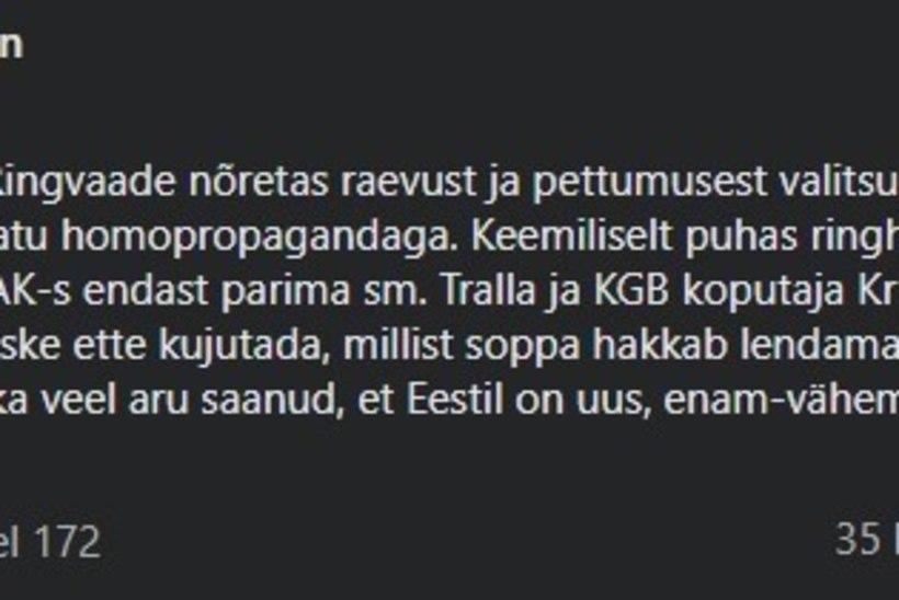 """Urmas Reitelmann lahkub ERR-i nõukogust, aga ei kavatse vabandada """"Ringvaate"""" saatejuhtide ees: """"Ei ole vähematki kavatsust laskuda käpuli."""""""