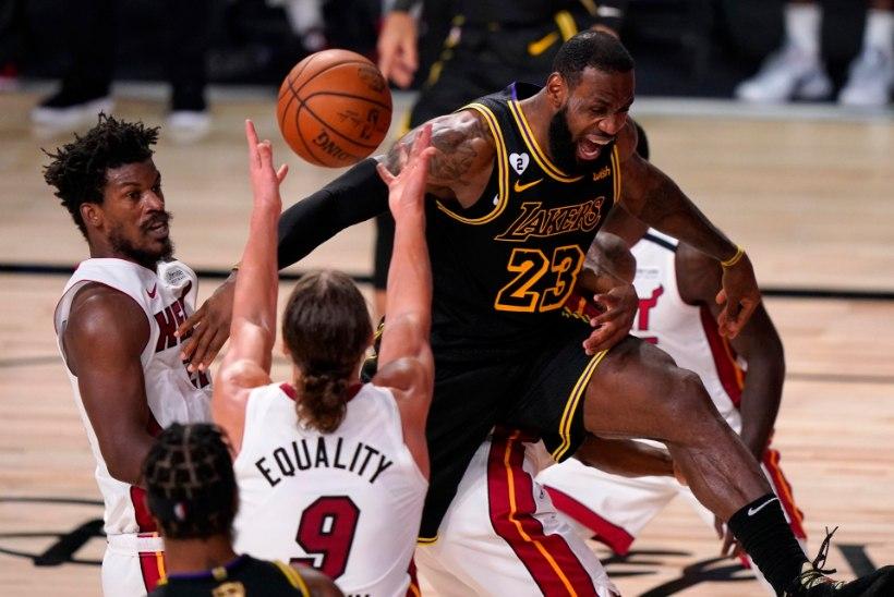 VIDEO: Lakers astus tiitlile sammu lähemale, LeBron James ja Anthony Davis tegid ajalugu
