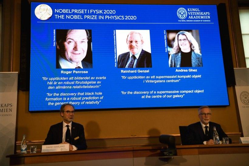 Nobeli füüsikapreemia võitjad uurivad salapäraseid musti auke