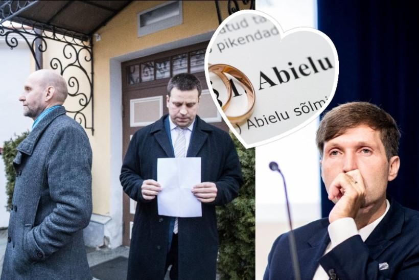 """""""Samost ja Sildam"""": abielureferendum ei jõua riigikogust kaugemale"""