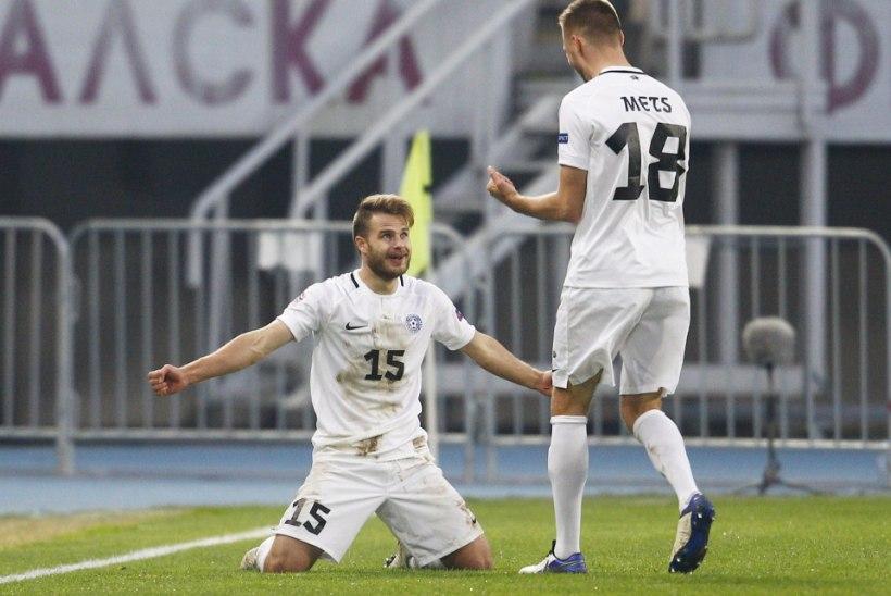 15 MÄNGU VÕIDUTA: kaotus Skopjes viis Eesti jalgpallikoondise mudaliiga lävele