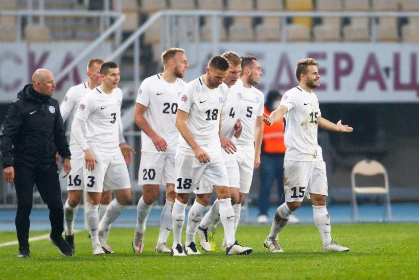 Eesti jalgpallikoondis lõpetas Rahvuste liiga ilmetu viigiga