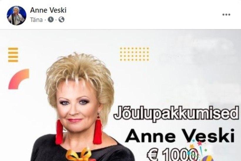 JÄRJEKORDNE PETUSKEEM! Anne Veskile tehti Facebookis libakonto, mis lubab registreerudes suurt rahasummat. Anne: ärge jumala eest kuhugi vajutage!