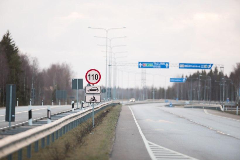 Alates reedest ei saa enam maanteel 110 km/h sõita
