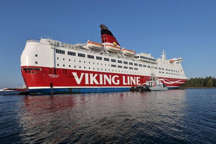 Viking Line'i laev sõitis Ahvenamaa lähedal madalikule