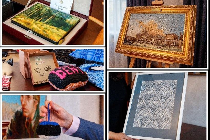 ÕL VIDEO JA GALERII | Sall Putinilt, mosaiik paavstilt ja hülgekonserv Kihnust ehk Milliseid kingitusi on president Kaljulaidile ametiaja jooksul tehtud